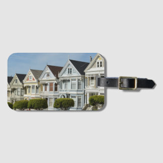 Alamo Square Victorian Houses in San Francisco Luggage Tag