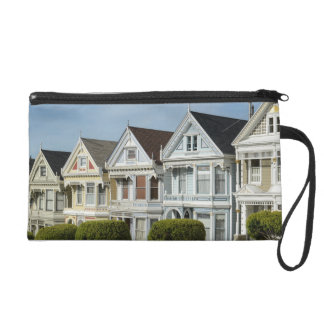 Alamo Square Victorian Houses in San Francisco Wristlet