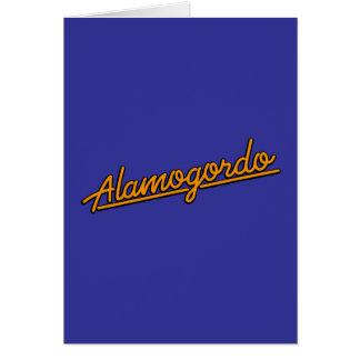 Alamogordo in orange card
