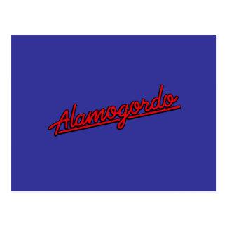 Alamogordo in red postcard