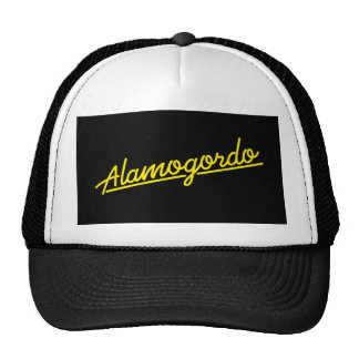 Alamogordo in yellow trucker hat