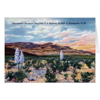 Alamogordo New Mexico Sacramento Mountains Card
