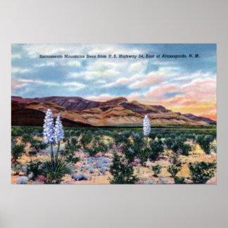 Alamogordo New Mexico Sacramento Mountains Poster