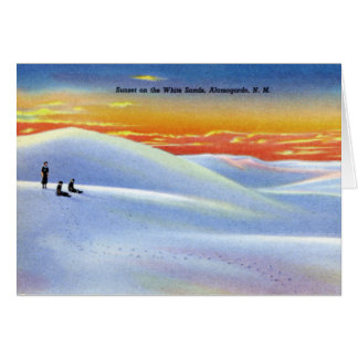 Alamogordo New Mexico Sunset on the White Sands Card