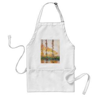 Álamos de Claude Monet //(otoño) 1891 Delantal