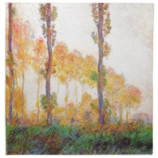 Álamos de Claude Monet otoño 1891 Servilletas Imprimidas