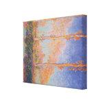 Álamos de la pintura de Monet Lona Estirada Galerias