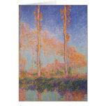 Álamos de la pintura de Monet Tarjeta
