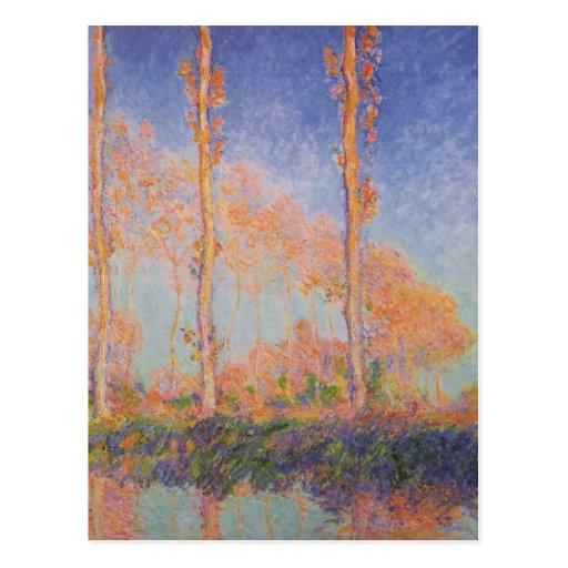 Álamos de la pintura de Monet Tarjetas Postales