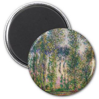 Álamos de Monet en el imán de Giverny