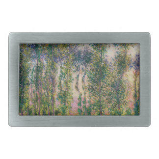 Álamos de Monet en la hebilla del cinturón de Give Hebilla De Cinturón