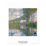 Álamos en el Epte de Claude Monet Tarjetas Postales