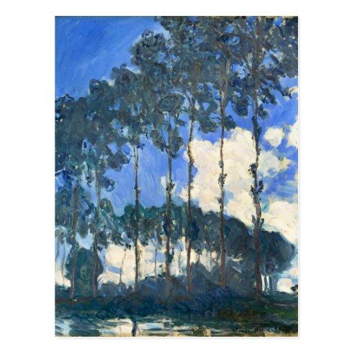 Álamos en los bancos del río Epte - Monet Postal