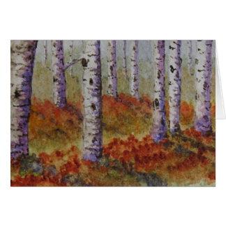 Álamos tembloses del otoño tarjeta de felicitación