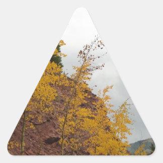 álamos tembloses del paso del boreas calcomanías triangulos personalizadas