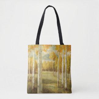 Álamos tembloses en otoño bolsa de tela