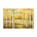 Álamos tembloses en otoño impresiones en lienzo estiradas