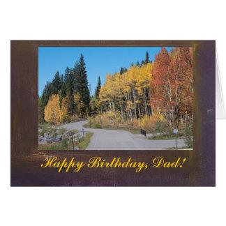 Álamos tembloses feliz cumpleaños, tarjeta del