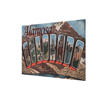 Alamosa, Colorado - Large Letter Scenes Canvas Print