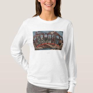 Alamosa, Colorado - Large Letter Scenes T-Shirt