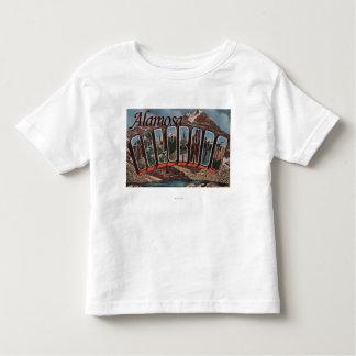 Alamosa, Colorado - Large Letter Scenes Toddler T-shirt