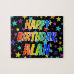 "[ Thumbnail: ""Alan"" First Name, Fun ""Happy Birthday"" Jigsaw Puzzle ]"