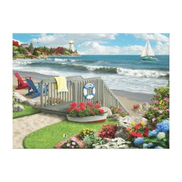 """Beach Themed Alan Giana """"Beach Days"""" Canvas Print"""