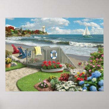 """Beach Themed Alan Giana """"Beach Days"""" Poster"""