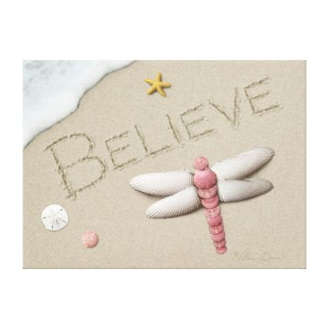 "Beach Themed Alan Giana ""Believe"" Canvas Print"
