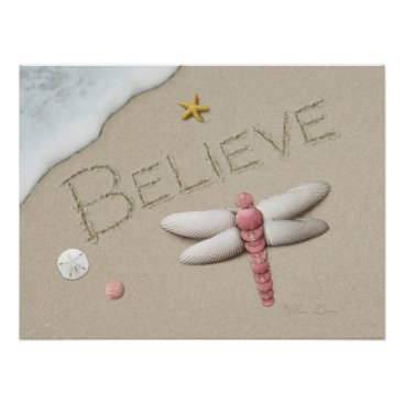"Beach Themed Alan Giana ""Believe"" Poster"