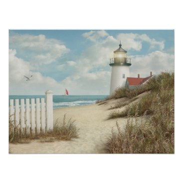 "Beach Themed Alan Giana ""By the Peaceful Shore"" Poster"