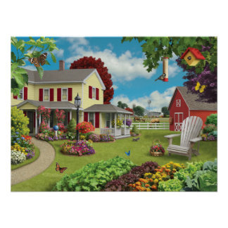 "Alan Giana ""Country Home"" Poster"
