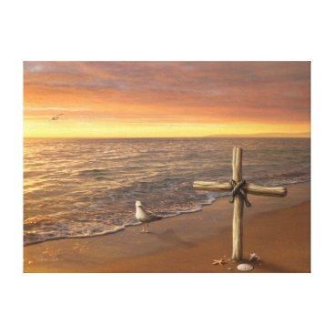 "Beach Themed Alan Giana ""Faith"" Canvas Print"