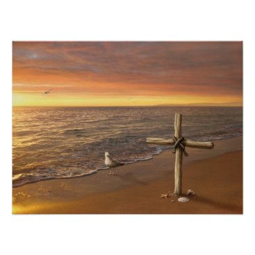"Beach Themed Alan Giana ""Faith"" Poster"