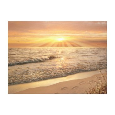 "Beach Themed Alan Giana ""Footprints in the Sand"" Canvas Print"