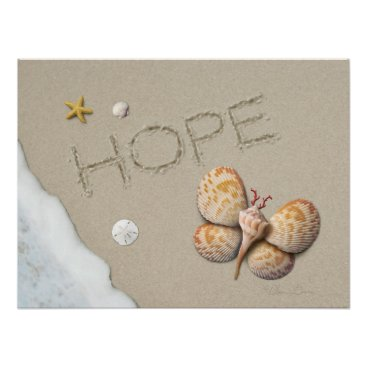 "Beach Themed Alan Giana ""Hope"" Poster"