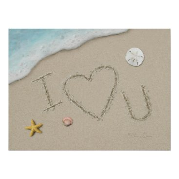 "Beach Themed Alan Giana ""I Love U"" Poster"