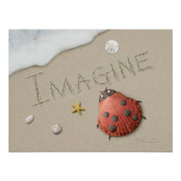 "Beach Themed Alan Giana ""Imagine"" Poster"