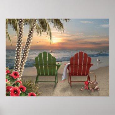 "Beach Themed Alan Giana ""Infinity 2"" Poster"