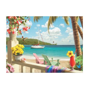 "Beach Themed Alan Giana ""Island Retreat"" Canvas Print"
