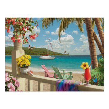 "Beach Themed Alan Giana ""Island Retreat"" Poster"