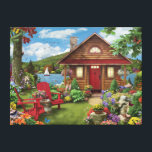 "Alan Giana &quot;Lakeside Retreat&quot; Canvas Print<br><div class=""desc"">Enjoy your time at your very own &quot;Lakeside Retreat&quot;,  and take in all of the details in this colorful Alan Giana painting.</div>"