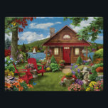 """Alan Giana &quot;Lakeside Retreat&quot; Poster<br><div class=""""desc"""">Enjoy your time at your very own &quot;Lakeside Retreat&quot;,  and take in all of the details in this colorful Alan Giana painting.</div>"""