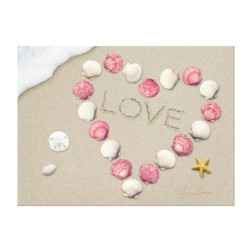 "Beach Themed Alan Giana ""Love"" Canvas Print"