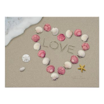 "Beach Themed Alan Giana ""Love"" Poster"