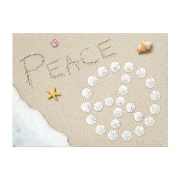 """Beach Themed Alan Giana """"Peace Sign"""" Canvas Print"""