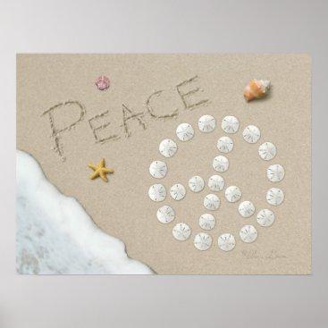 "Beach Themed Alan Giana ""Peace Sign"" Poster"