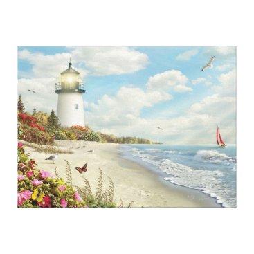 """Beach Themed Alan Giana """"Rays of Hope 3"""" Canvas Print"""