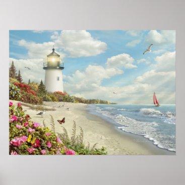 "Beach Themed Alan Giana ""Rays of Hope 3"" Poster"