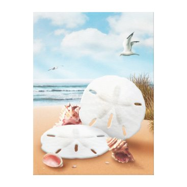 "Beach Themed Alan Giana ""Sand Dollars"" Canvas Print"